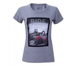 Damen T-Shirt Ride A Horse