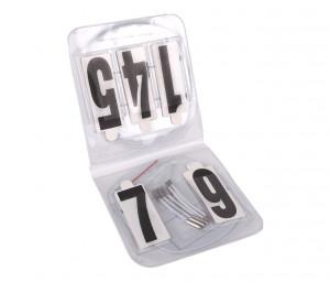 Startnummern Set, oval, mit Gummis
