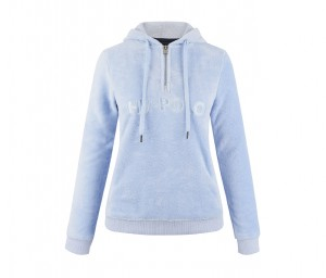 Damen Fleece Hoody Honey